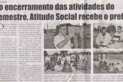 Encerramento da atividades Atitude Social recebe prefeito